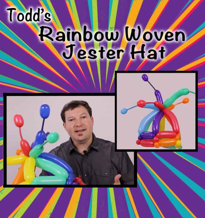 Rainbow Woven Jester Hat by Todd Neufeld