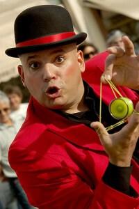 Willy Monroe with yo-yo