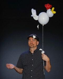 Scott Tripp holding a chicken