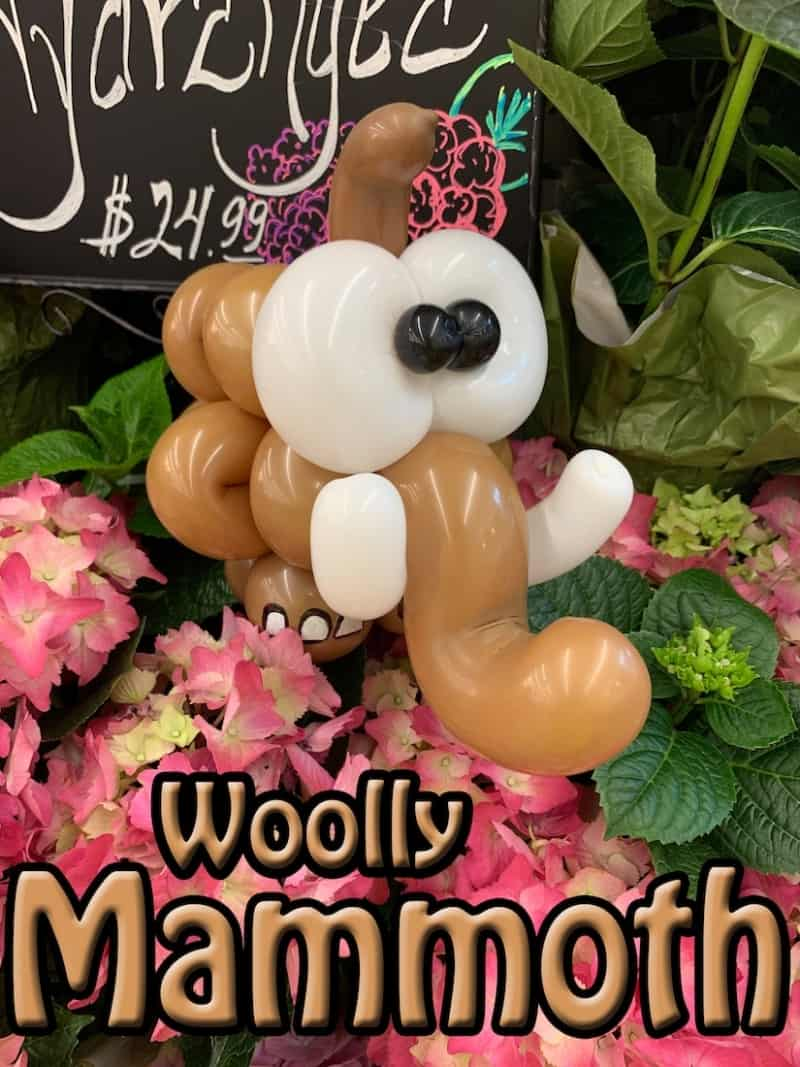 Balloon Woolly Mammoth - Petal Pals